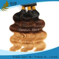 Buy cheap Two Tone Clean Colored Virgin Hair Extensions Brazilian Body Wave No Chemical from wholesalers