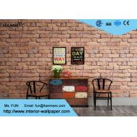 Buy cheap White and Red Brick Wallpaper for Walls / Non woven Brick Embossed Wallpaper ISO from wholesalers
