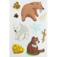 Buy cheap Fuzzy Puffy custom book Stickers For Kids / Cute Little Bear desk Stickers from wholesalers