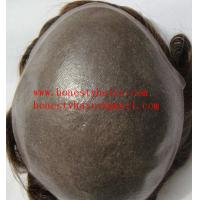 Buy cheap Full skin natural mens' toupee from wholesalers