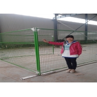 Buy cheap powder coated weld wire canada temporary removable fencing panels 8'x9.5' height tubing 1 profile x 16ga thick from wholesalers