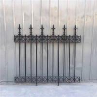 Buy cheap Classical Street Decorative Rod Iron Fence Powder Coated Cast Iron Garden Fence from wholesalers