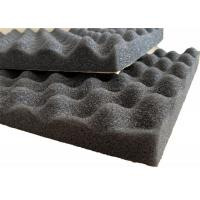 Buy cheap Self - adhesive PU Foam Insulation Material Black Wavy Shape For Noise Reduction from wholesalers