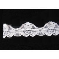 Buy cheap Bridal Elegant Lace Fabric White For Dresses / Scalloped Guipure Lace Trim from wholesalers