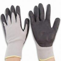 Buy cheap 13G Cotton Knitted Gloves with Foam NBR Coated and Oil Resistance from wholesalers