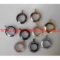 Buy cheap 20MM Round Shaped Origami Magnetic Stainless Steel Locket,Glass Memory Floating Lockets from wholesalers
