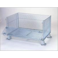 """Buy cheap Super Wide Collapsible Wire Container Storage Cages 60""""X44""""X40"""" 3000 Pounds Capacity from wholesalers"""