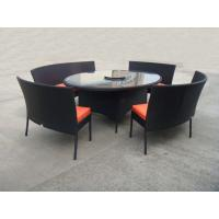 Buy cheap Rattan Garden Dining Sets With Bench , Patio Table And Chairs Set from wholesalers