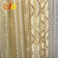 Buy cheap 100 Polyester Lace Curtain Fabric , Lace Table Cloth Upholstery Fabric 50-200gsm from wholesalers