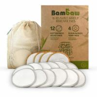 Buy cheap Reusable Makeup Remover Pads Bamboo Makeup Remover Pads With Laundry Bag Washable And Eco-Friendly For All Skin from wholesalers