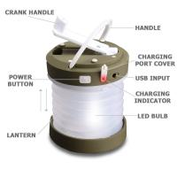 Buy cheap Dynamo Crank Telescopic Camping Lantern from Wholesalers