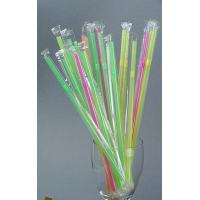 """Buy cheap 8.25"""" Individually plastic film wrapped jumbo straw ,neon cello wraped pack of 500 count from wholesalers"""