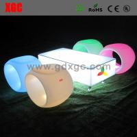 Buy cheap LED stool  PE stool Outdoor Lighting Led Square Hollow Stool Plastic Rolling Stool For KTV  Reception from wholesalers