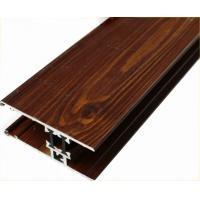 Customized Furniture Aluminium Profiles , Wood Grain Finished T Slot Aluminum Framing