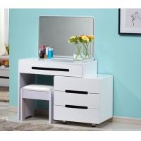 Buy cheap Makeup White Vanity Table Set / Bedroom Dressing Table With Mirror from wholesalers