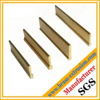 Buy cheap Extruded brass profiles for floor parts stair parts brass Tees from wholesalers