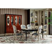 Buy cheap Luxury Furniture Dining room Long Tables in high glossy painting Ebony veneer with High density Upholstered Chairs from wholesalers