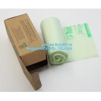 Buy cheap Eco friendly biodegradable plastic compostable garbage bags on roll, Compostable Disposable Colored Plastic Garbage Bag from wholesalers