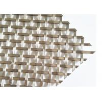 Buy cheap Burnished Brass Flat Crimped Wire Grille, SS304 Flat Woven Ceiling Drapery from wholesalers