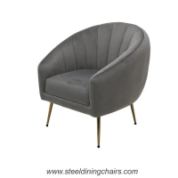 Buy cheap Velvet Fabric Upholstered Tufted Metal Frame Armchair from wholesalers
