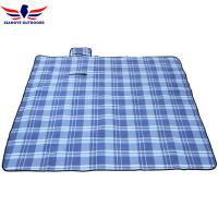 Buy cheap Polar Fleece Plaid Outdoor Picnic Blanket with Sandproof Barrier and 3 Layers Padding from wholesalers