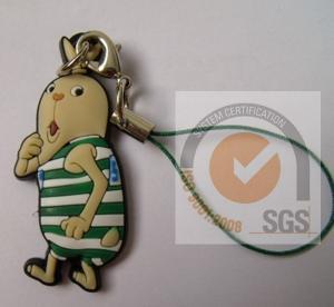 Buy cheap OEM PVC / PC / TPU Soft PVC Keychain Eco - Friendly 2D / 3D SGS product