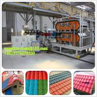 Quality PVC+ASA antique glazed roof tile/roofing sheet extrusion machinery for sale