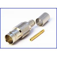 Buy cheap BNC connector crimping straight female 180 degree wiring connector from wholesalers