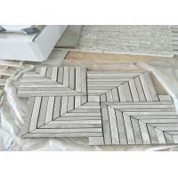 Buy cheap Whit	Marble Mosaic Tile , marble mosic floor tile 10mm Thickness 302x302mm Sheet Size from wholesalers
