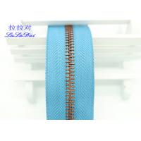 Buy cheap Bright Color Tape 10 Inch Separating Zipper , Long Chain Coil Zipper By The Yard from wholesalers