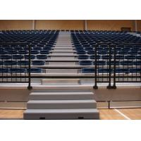 Remotely Controlled Retractable Grandstands / Retractable Stadium Seating For Tennis Hall