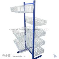 Buy cheap Food / Vegetable Steel Free Standing Wire Shelving With Powder Coated from wholesalers