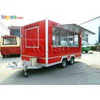 Buy cheap Street Square Mobile Food Trailer  Stainle Steel Food Vending Carts Various Colors from wholesalers