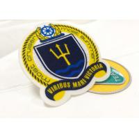 Buy cheap Heat Cut Twill Fabric Custom Clothing Patches Cloth Embroidered Badges from wholesalers