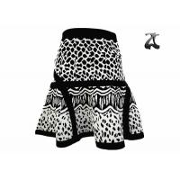 Buy cheap Stylish Ladies Knit Skirts White and Black Color Fall Season Scalloped Hem from wholesalers