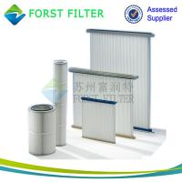 Buy cheap FORST Cylinder Air Cartridge Polyester Air Filter Material Pleated Air Filter Supplier from wholesalers