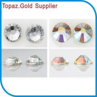 Buy cheap Nice clear and clear ab rhinestone foiled back flat back MC rhinestone for crafts from wholesalers