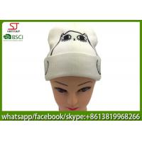 Buy cheap Chinese manufactuer cat hawk embroidered winter knitting patterns for hat  cap 50g 20*22cm 100%Acrylic keep warm from wholesalers