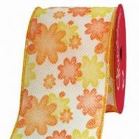 Buy cheap Flower Ribbon, Used for Garment, Festival Decoration, Making Flowers and Packaging from wholesalers