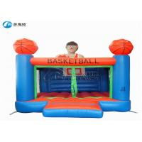 Buy cheap High quality kids games basketball castle inflatable trampoline castle from wholesalers
