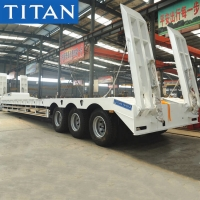 Buy cheap Tri Axle 80 Tons Heavy Haul Low Loader Truck Trailer for Sale from wholesalers