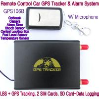 Buy cheap GPS106B Car Safety Vehicle GPS Tracker W/ Armed by remote-controller & geo-fencing Alarm product