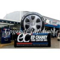 Buy cheap custom giant black and white advertising inflatable tire,inflatable tyre for sale from wholesalers
