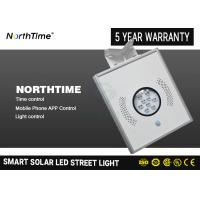 Buy cheap 4 Working Modes 8W LED Solar Street Light with LiFePO4 Battery Mono Silicon Solar Panel from wholesalers