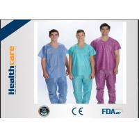 Buy cheap Soft Nonwoven Disposable Scrub Suits For Hotel / Hospital / Beauty Salon Protective from wholesalers