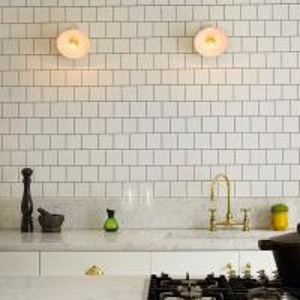 Buy cheap Kitchen Backsplash Water Resistant Tile 150X150 Glossy White Ceramic Subway Tile product