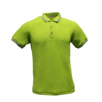 Buy cheap XS Green Plain Woven Unisex 100% Cotton Polo Shirt from wholesalers