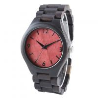 China Luxury OEM Private Logo Wooden Case Back Mens Ebony Wooden Watch Band on sale