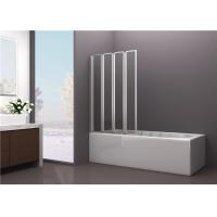 Buy cheap 4mm Tempered Framed Glass Bathtub Screen with Four Folding Doors from Wholesalers
