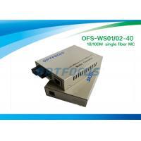1310nm 1550nm Single Fiber Media Converter Sm Sc 10 / 100Base - Tx 40Km